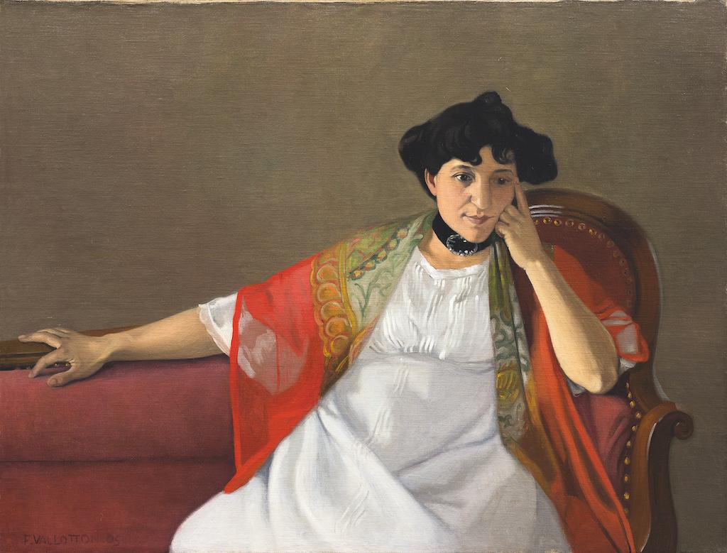 "Félix Vallotton, Portrait de Madame Gabirelle Vallotton. The Met's ""Painter of Disquiet is reviewed at Riot Material magazine."