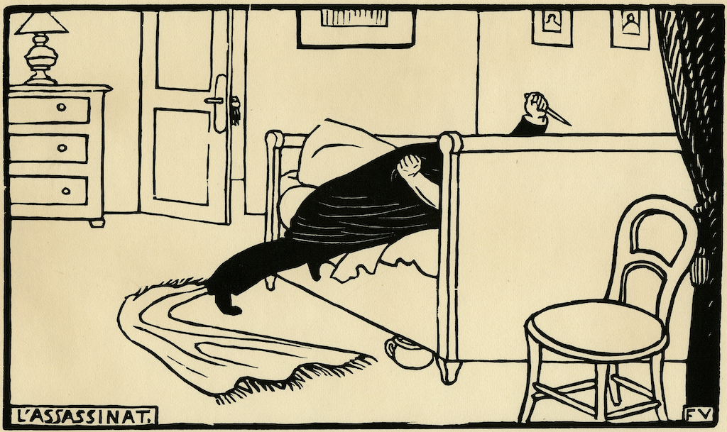 """Félix Vallotton, Murder, 1893. The Met's """"Painter of Disquiet is reviewed at Riot Material magazine."""