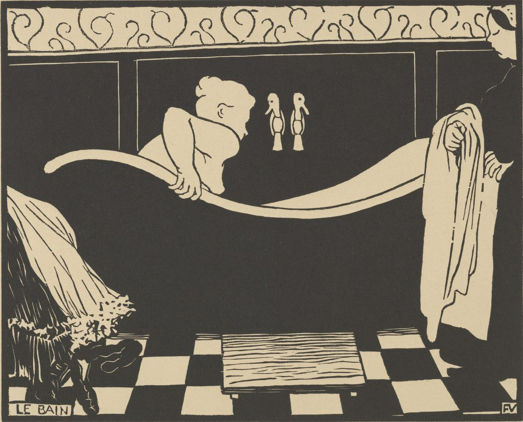 """Félix Vallotton, The Bath, 1894. The Met's """"Painter of Disquiet is reviewed at Riot Material magazine."""