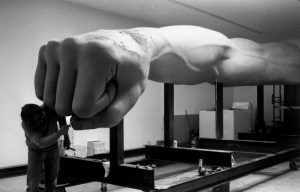 "The Monument to Joe Louis, aka ""The Fist,"" as sculpted by Robert Graham"