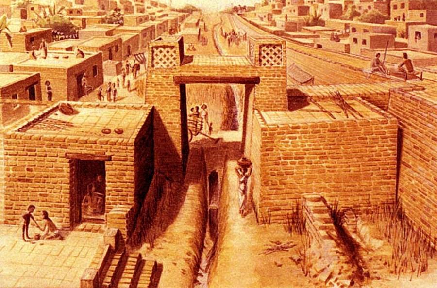 Artist rendering of the Indus Valley Civilization c.2500bc