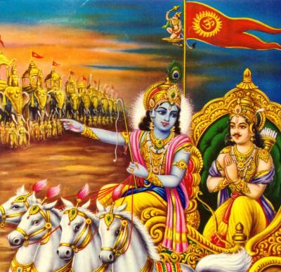 In Chapter 2 of the Gita, Krishna tells Arjuna that performing one's duty in itself becomes the gateway to heaven.