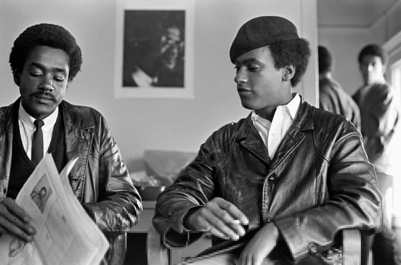 Huey Newton and Bobby Seale at the Black Panther Party Headquarters