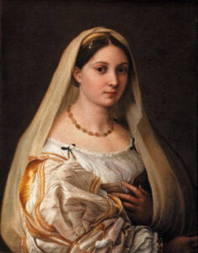 Raphael's La Velata. A review of the Raphael exhibition Raffaello 1520–1483, in Rome, Italy, is at Riot Material