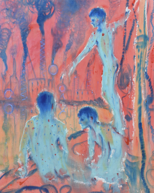 Andrej Dubravsky, Bathers (after Henry Scott Tuke) 2020