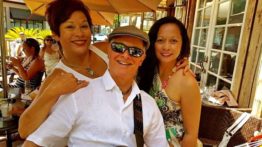 Rolando Morales with fans at Maria Maria