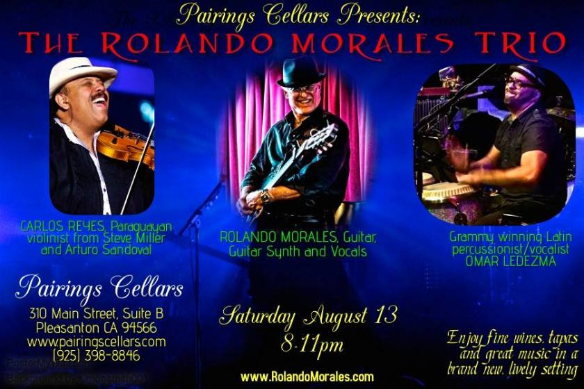 Rolando Morales, Carlos Reyes and Omar Ledezma together at Pairings Cellars August 13, 2016