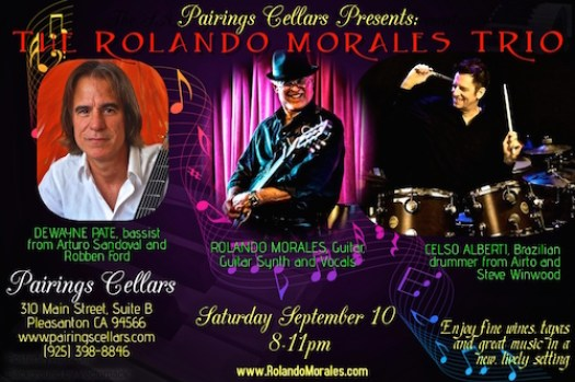 Rolando Morales Trio at Pairings Cellars