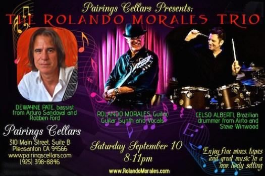 Rolando Morales Trio at Pairings Cellars