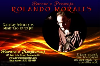 Rolando Morales at Barone's, Saturday, February 25 2017