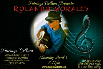 Rolando Morales performs at Pairings Cellars on April 1, 2017