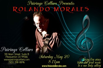 Rolando finally returns to the Pairings Cellars on May 20