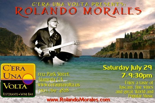 Rolando Morales will perform at C'era Una Volta on Saturday, July 29 in Alameda