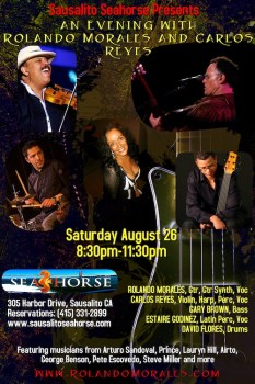 Rolando Morales and Carlos Reyes with full band at Seahorse Aug. 26, 2017