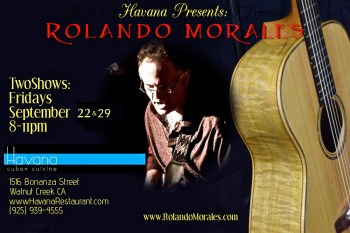 Rolando Morales returns on September 29th to Havana Club