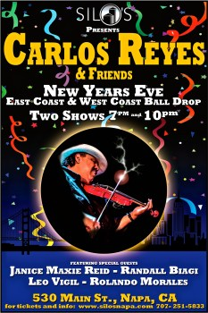 Rolando Morales joins Carlos Reyes for New Year's Eve performance at Silos in Napa Valley