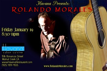 Rolando Morales performs at Havana on Friday, January 19, 2017