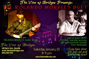 Rolando Morales at The Vine at Bridges, January 20, 2018