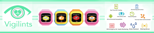 www.vigilints.com - smartwatches for kids