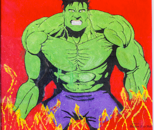 The Incredible Hulk – incredible because it's made entirely of colored sugar!