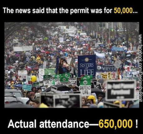 650 000 March for Life