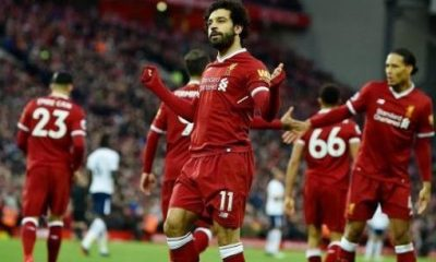 Salah double can't help Liverpool win as Kane sets record with Spurs