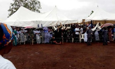 Tears, impassioned speeches as Benue buries murdered Catholic priests, parishioners