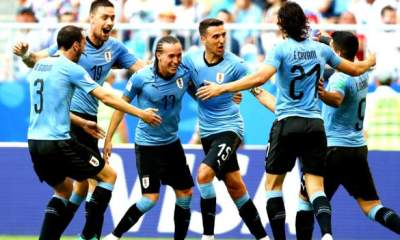 Suarez scores for Uruguay