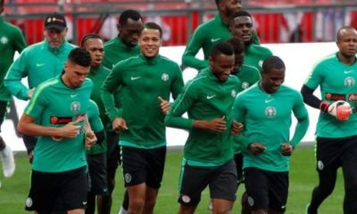 Super Eagles world cup training
