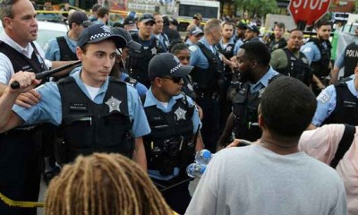 Wild protests erupt in Chicago after fatal shooting of blackman