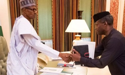 No Vacancy! Presidency confirms Osinbajo will be Buhari's running mate in 2019