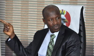 'Next question please', EFCC chair Magu refuses to answer question on Ganduje's alleged bribe videos