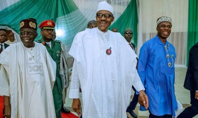 Tinubu appears at meeting with Buhari putting a lie to Fani-Kayode's claim of collapse