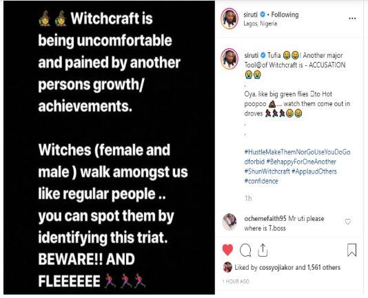 Uti Nwachukwu calls BBNaija's Ifu Ennada a witch for slighting him