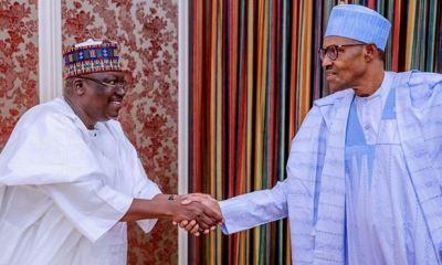 Buhari, Lawan meet in Aso Rock
