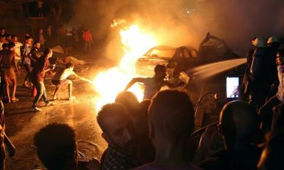 EGYPT: Car crash sparks deadly explosion, 19 killed