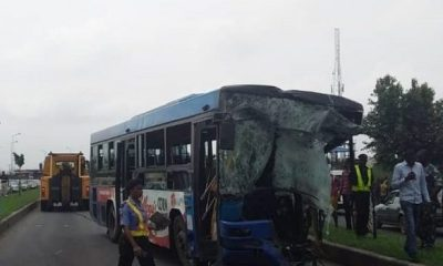 One feared dead, many injured as BRT collides with Dangote trailer in Lagos