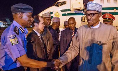 Buhari returns to Abuja from Japan