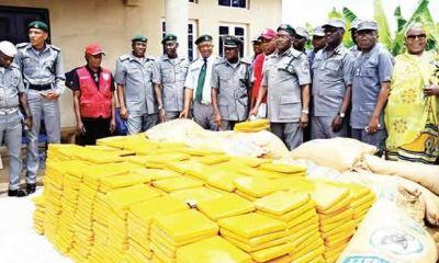 Customs intercept N160m worth India hemp smuggled from Ghana