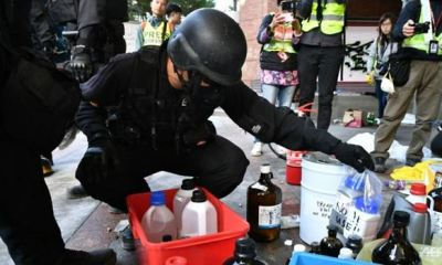 Hong Kong police discover 4,000 petrol bombs after 2-day search on university campus