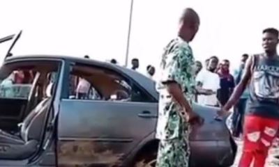 3 siblings reportedly hit, killed by driver using wrong lane in Lagos (Video)
