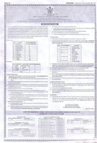 Enugu coal industry story Document