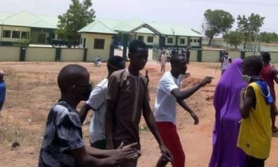 Covid-19 patients protest in Gombe (Pictures)