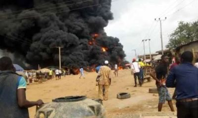 Burning fuel tanker claims 2 lives, destroys property worth millions in Ibadan