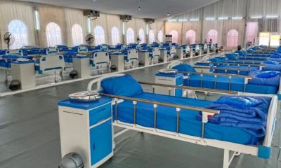 Lagos isolation centre with beds