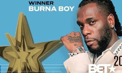 Burna Boy bags BET Awards 2020 for Best International Act