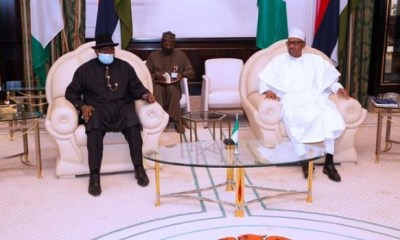Jonathan briefs Buhari on ECOWAS assignment, thanks him for naming railway complex after him