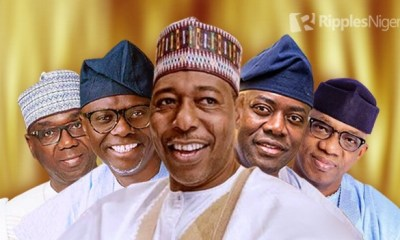 TOP 5, BOTTOM 5: How Nigerian governors ranked in July, 2020