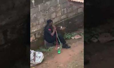 Police begins probe into viral video of policeman smoking shisha in uniform