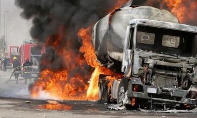 Diesel tanker explodes in Lagos